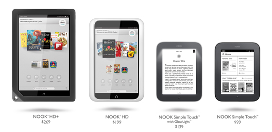 Our award-winning NOOK® line of products is bringing the digital