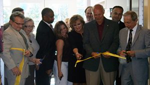 WVNCC officials, city leaders and Barnes & Noble College representatives gathered to cut the ceremonial ribbon to officially open the new bookstore.