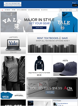 The Yale University Bookstore website. Click on image to enlarge.