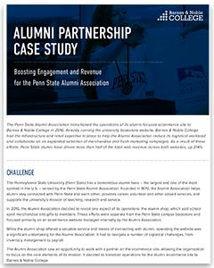 Screenshot of the Alumni Partnership Case Study