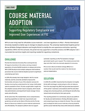 FIU course material case study