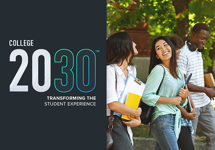 COLLEGE 2030 Infographic - The   Future of the student experience