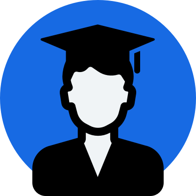 Student with cap and gown