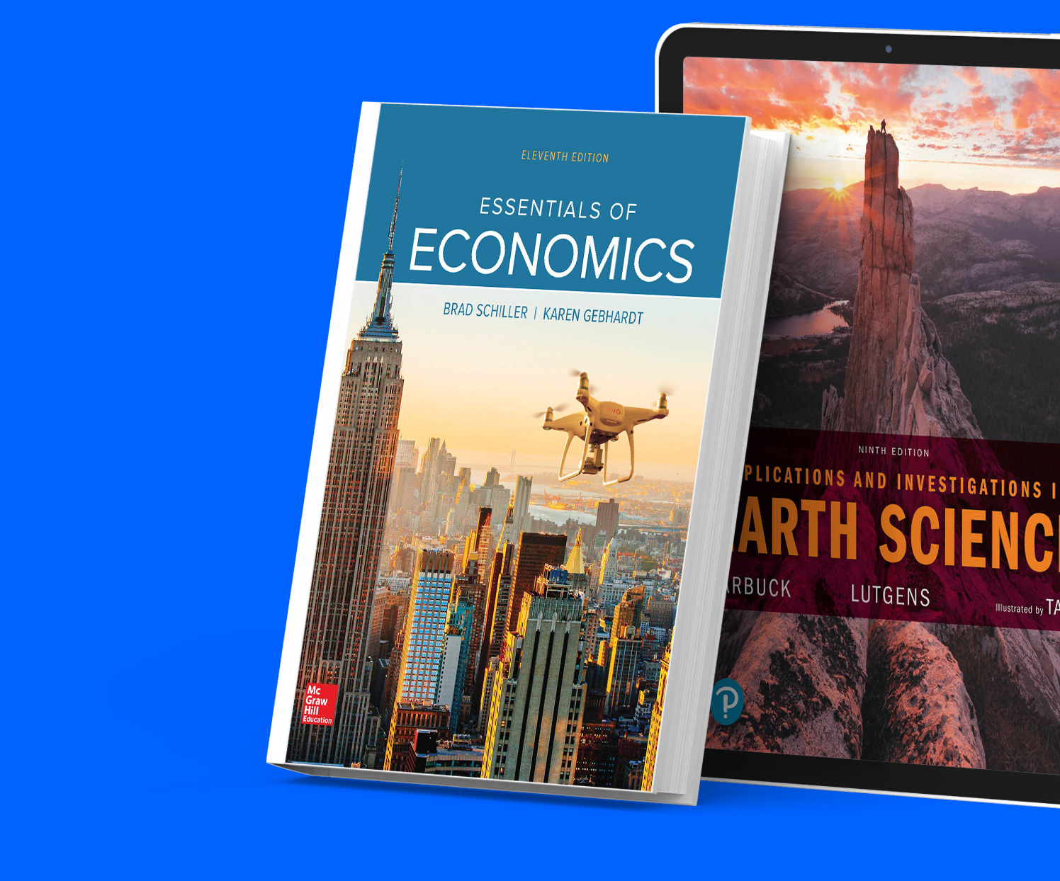 Textbooks available as print or digital versions